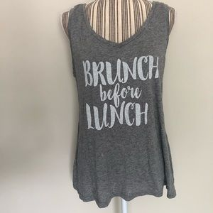 """Gilligan & O'malley """"Brunch before Lunch"""" Tank Top"""